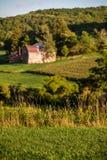 Un'azienda agricola rurale della valle Fotografia Stock Libera da Diritti