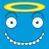 Un azul lindo Angel Face de la historieta del vector Fotos de archivo libres de regalías