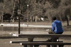 Un azzurro di sensibilità dell'uomo fotografie stock libere da diritti