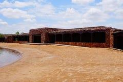 Un bâtiment au lac lea au Nouveau Mexique photographie stock libre de droits