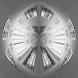 Un bâtiment circulaire l'avenir photographie stock libre de droits