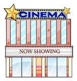 Un bâtiment de théâtre de cinéma Photographie stock libre de droits