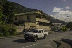 Un bâtiment en bois de style ancien dans Maraval, Trinidad Photos stock