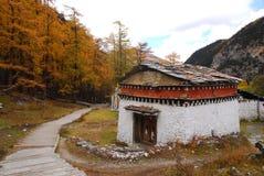 Un bâtiment tibétain Images libres de droits