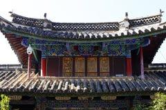 Un b?timent dans le village de Shigu, Yunnan, Chine images libres de droits