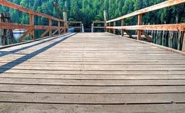 Un bacino di legno Fotografia Stock