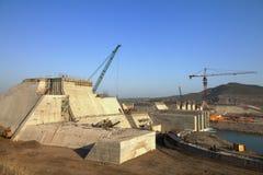 Un bacino idrico che è costruito Immagini Stock Libere da Diritti