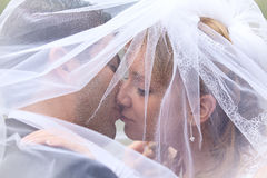 Un bacio dolce Fotografie Stock