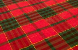 Un backfround colorido del mantel de la tela escocesa Imagen de archivo
