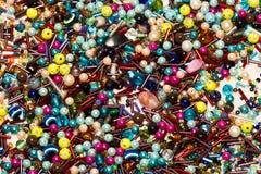 Un backgruond di tutti gli ordinamenti dei peaces di jewelery Fotografia Stock