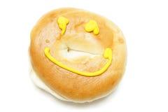 Un bagel isolato su bianco Immagine Stock Libera da Diritti