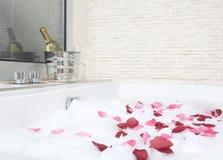 Un bagno di rilassamento Fotografia Stock