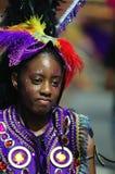 Un bailarín de la calle en el carnaval de Londres Notting Hill Imagen de archivo