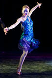 Un bailarín en el partido Fotografía de archivo libre de regalías