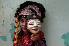 Un bailarín lindo de la samba del cirebon imágenes de archivo libres de regalías