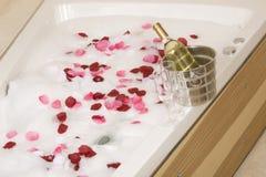 Un bain de détente image stock