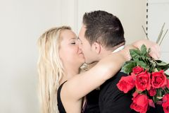 Un baiser de l'amour Photo stock