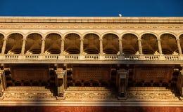 Un balcón adornado y hermoso Imagenes de archivo