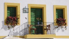 Un balcón equipado Foto de archivo libre de regalías