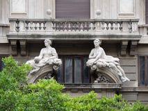 Un balcon à Milan Photos stock