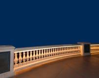 Un balcone con fondo blu Immagine Stock Libera da Diritti