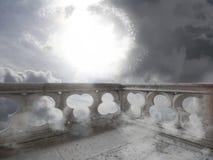 Un balcone nel cielo fotografie stock