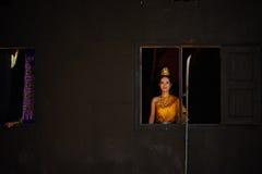 Un ballerino tailandese Fotografia Stock