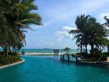 Un balneario en Sanya en Hainan fotos de archivo
