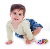 Un bambino adorabile fotografia stock