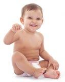 Un bambino felice di 11 monthes Immagini Stock Libere da Diritti