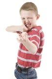 Un bambino in giovane età con un'immaginazione fotografie stock libere da diritti