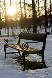 Un banc au parc de Vigeland Photos libres de droits