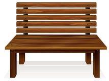 Un banc en bois illustration libre de droits