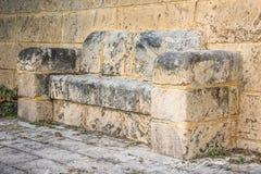 Un banc en pierre scénique Image stock