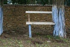 Un banc fait maison Images libres de droits