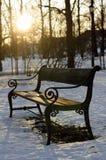 Un banco al parco di Vigeland Fotografie Stock Libere da Diritti