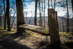 Un banco nel legno di Boppard immagine stock