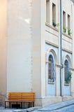 Un banco vuoto Fotografie Stock Libere da Diritti