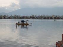 Un barco de casa en Cachemira imagen de archivo libre de regalías