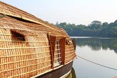 Un barco de casa Remansos de Kerala Foto de archivo libre de regalías