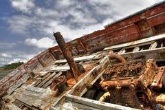 Un barco de un cementerio Fotografía de archivo