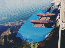 Un barco en el Danubio Imagenes de archivo