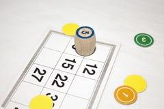 Un barilotto del lotto su una chip card Fotografia Stock Libera da Diritti
