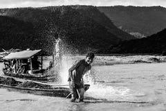 Un barquero Fotografía de archivo