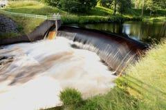 Un barrage Nissafors - en Suède Image libre de droits