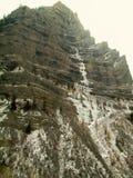 Un barranco congelado del invierno de Utah imagenes de archivo