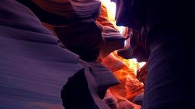 Un barranco más bajo en Arizona - el lugar más hermoso del antílope en el desierto almacen de video