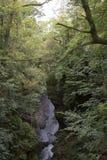 Un barranco ocultado profundo en Escocia foto de archivo
