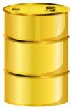 Un barril de aceite amarillo Foto de archivo libre de regalías