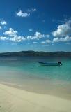 Un bateau dans le paradis Image libre de droits